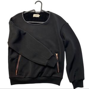 Eleven Paris Black Sweater Shirt Woman's Small